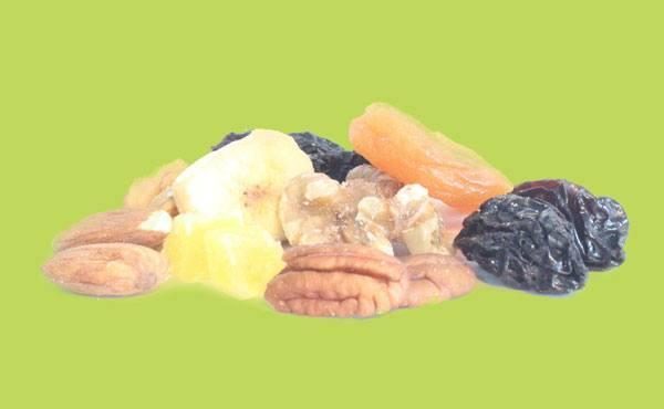 Noix, fruits séchés et croustilles