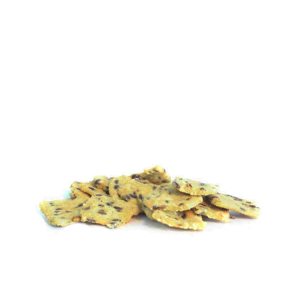 Croustilles de maïs aux graines de lin salées