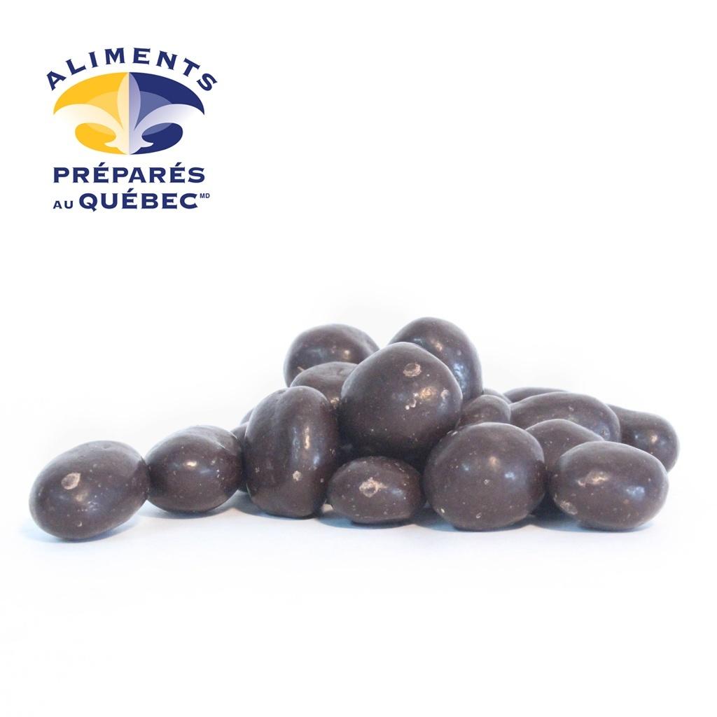 Raisins enrobés de chocolat noir