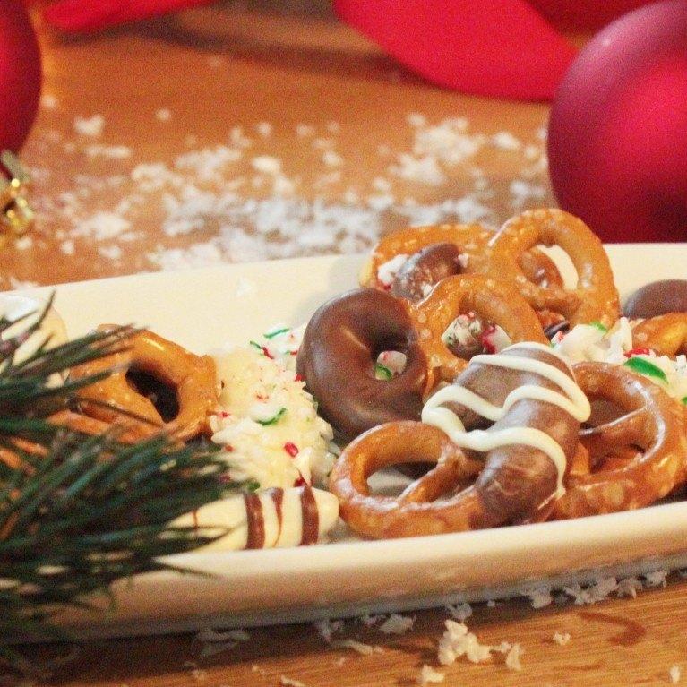 Bretzels en chocolat de noel