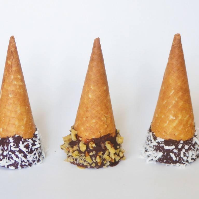 decorer les cornets de creme glacee
