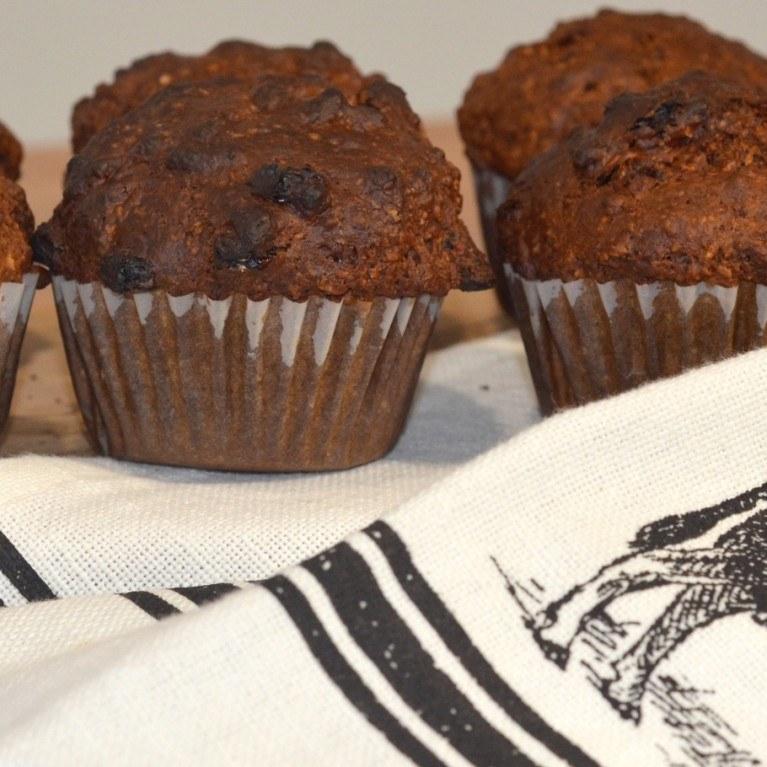 Muffins aux sons et raisins secs