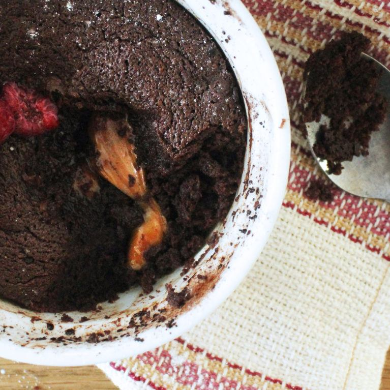 Moelleux au chocolat au coeur de caramel