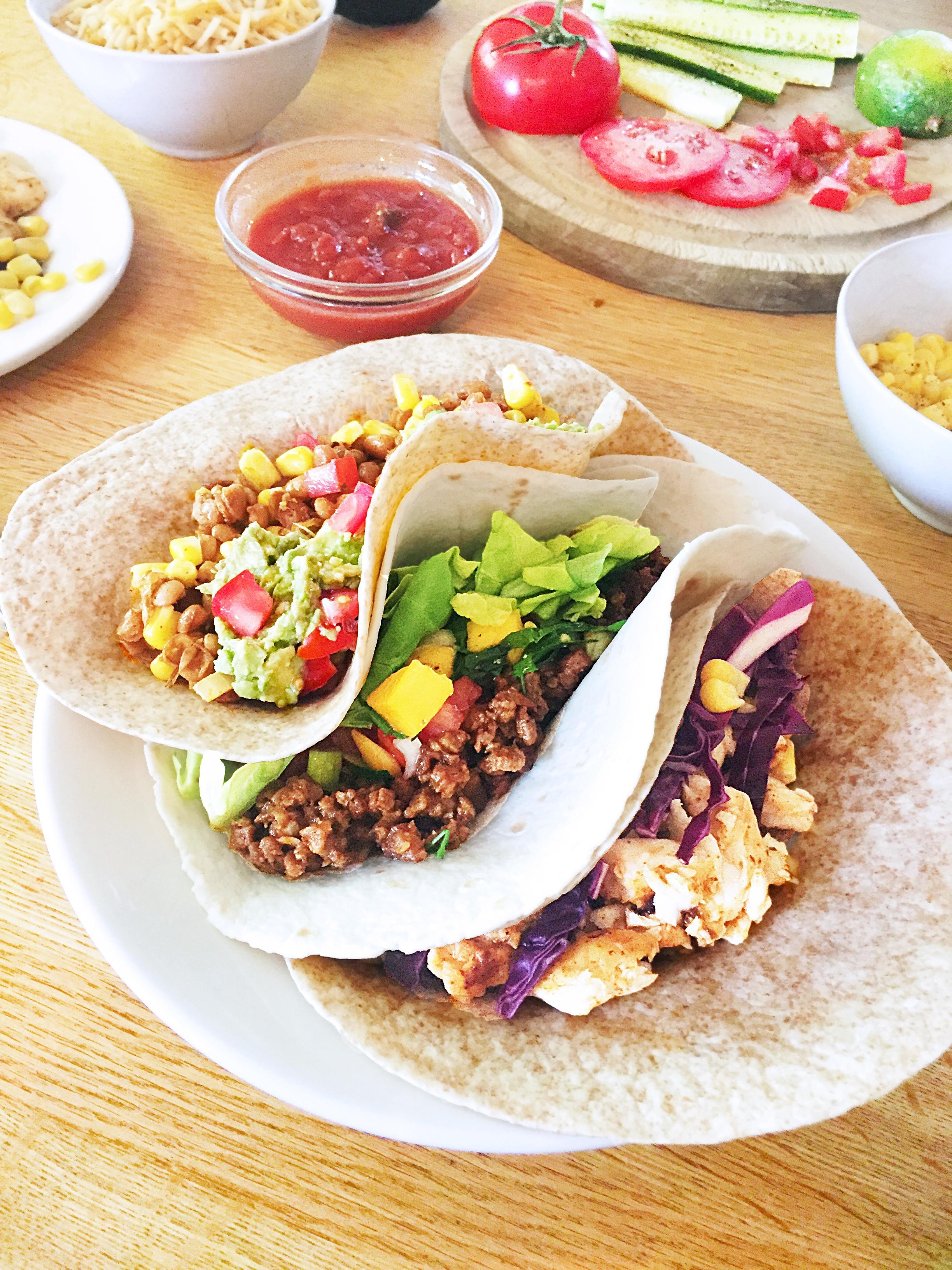 Fiesta mexicaine à la maison - Tacos 3 façons