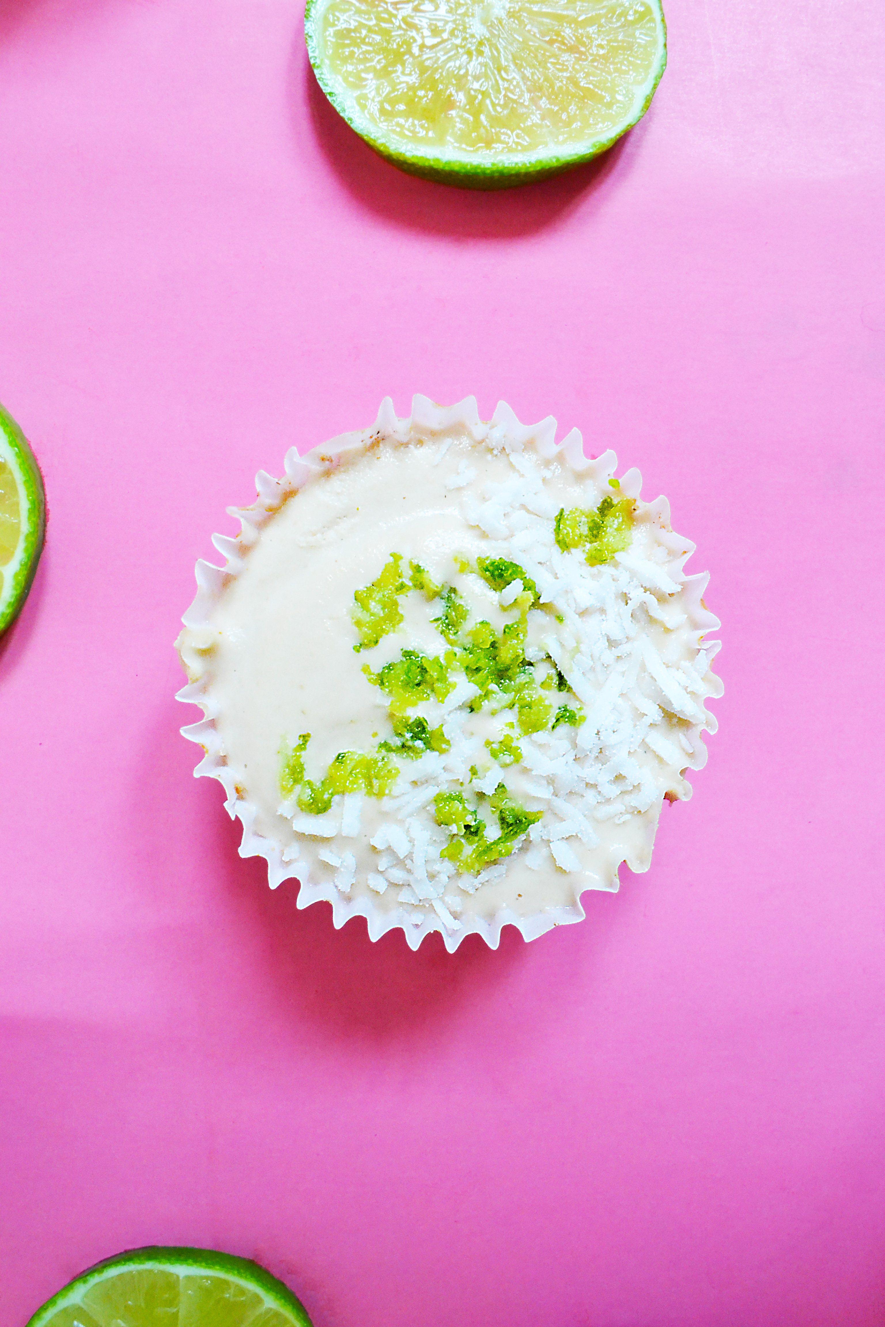 Tartelettes végétaliennes à la lime