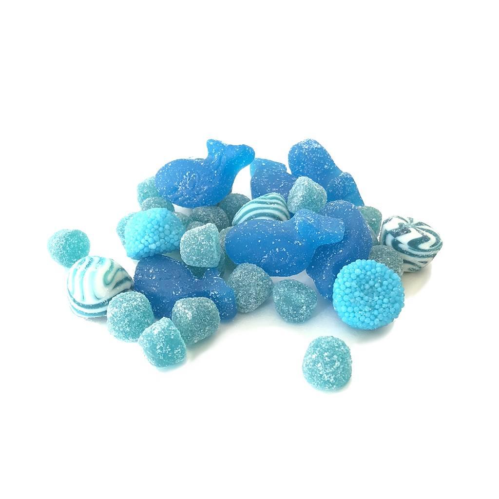 Mélange bonbons bleus