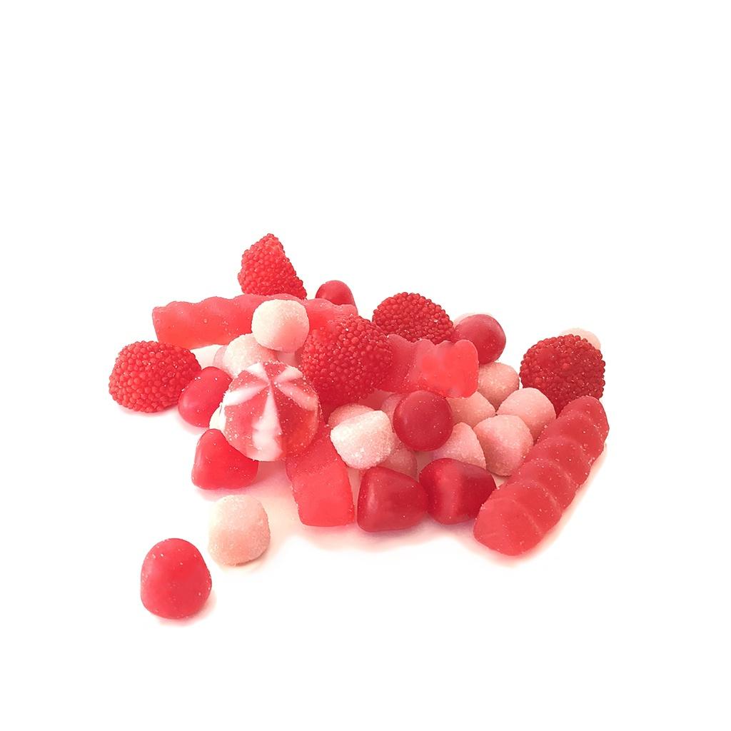 Mélange bonbons rouges